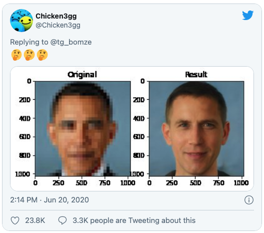 picture of Barack Obama next to altered image of a whitened Obama