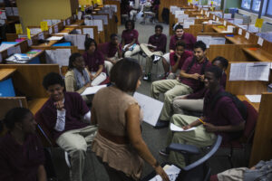 Black students in a class