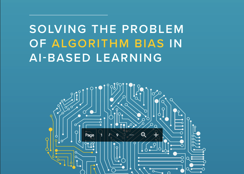 Solving The Problem Of Algorithm Bias In AI-Based Learning