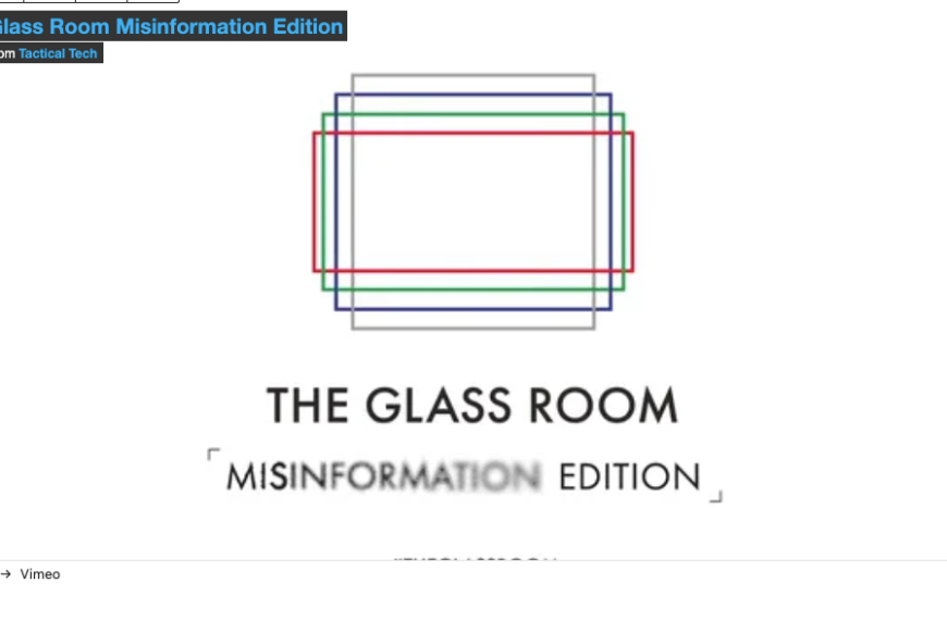 The Misinformation Edition of the Glass Room