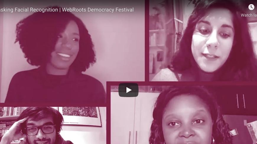 Unmasking Facial Recognition | WebRoots Democracy Festival