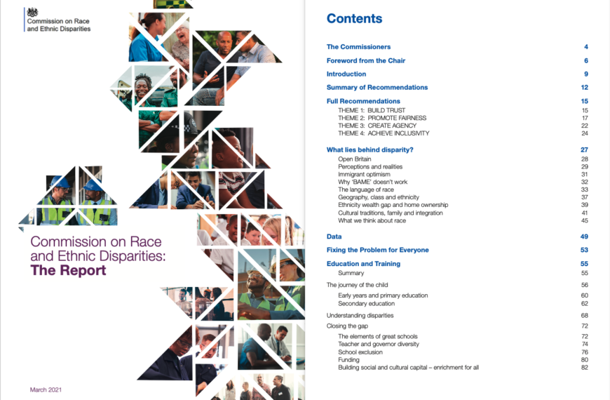 We and AI Response to the Race and Ethnic Disparities Report 2021